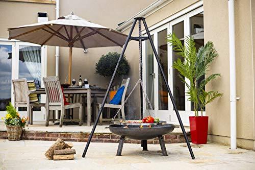Die Hacienda 55578Grill Firewood Black Grill–Barbecues & Grills (Grill, Firewood, Steel, Black, Round, Steel)