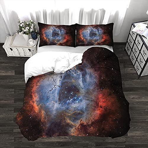 Copripiumino Universo di stelleset lenzuola matrimoniale Copri piumone Matrimoniale e Traspirante 2 Federe Confortevole 52x82cm Set copripiumino in microfibra -260x260cm