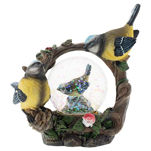 Elanze Designs - Figura decorativa (45 mm), diseño de pájaros, color azul