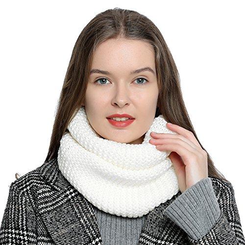Warme en zachte dames winter ronde sjaal loop-sjaal gebreid