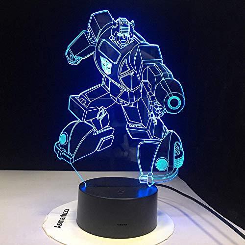 7 cambio de color 3D holograma luz transformadores luces visuales LED lámpara 7 color noche lightcloset gabinete con interruptor remoto