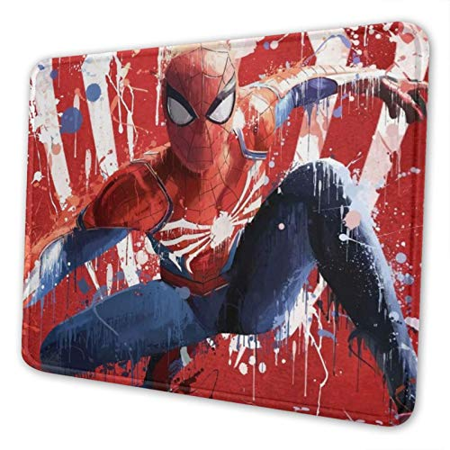 Superhero Spiderman Mouse Pad with Stitched Edges Premium Textured Mouse Mat Non-Slip Rubber Base Gaming Mousepad,for Laptop -Computer & Pc.10x12 Inches