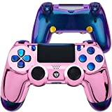 HexGaming HEX Spike Controller 2 Mappable Back Buttons & Replaceable Thumbsticks & Triggers Stop for PS4 Controller Customized Game Controller PC Wireless FPS Gamepad - Chrome Pink
