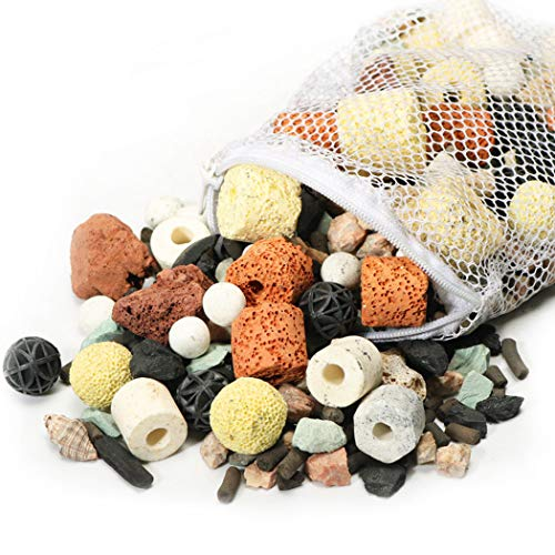 ZOYLINK Aquarium Filtermedien Sortiert Rund Professional Universal Ceramic Cylindrical 13 in 1 Aquarium Supply