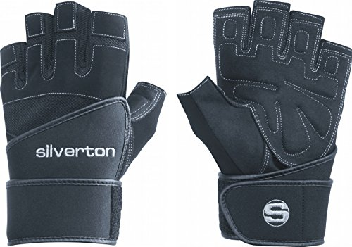 Silverton Fitness-Gewichtheberhandschuh Power Plus, schwarz, L