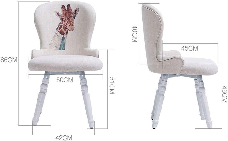 WDX- Chaise de salle à manger en bois massif Chaise de café Chaise de chaise Chaise de loisirs moderne et simple mode (Color : A) E