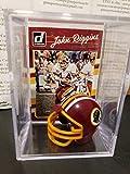 John Riggins Washington Redskins Mini Helmet Card Display Collectible RB Auto Shadowbox Autograph