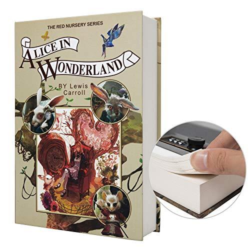 Caja fuerte con forma de libro de papel de verdad, cerradura con código, diseño de diccionario