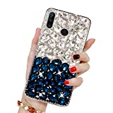 Diamant Strass Coque pour Huawei P30 Lite, Misstars Transparente Bling Glitter Housse de Protection...