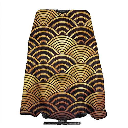 Kapper Schort Traditionele Japanse Wave Patroon Schaal Barber Cape Cover 140X168Cm Kapsel Shampoo Capes Haar Snijden Schort Kapper Styling Volwassenen