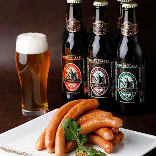 【 日本一ソーセージ & 金賞地ビール飲み比べセット A (2-3人向) 】 厚木ハム ウインナー 地ビール おつまみセット