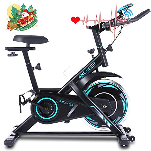 Sale!! ANCHEER Exercise Bike, Indoor Cycling Bike Stationary with Heart Rate Monitor & LCD Monitor, ...