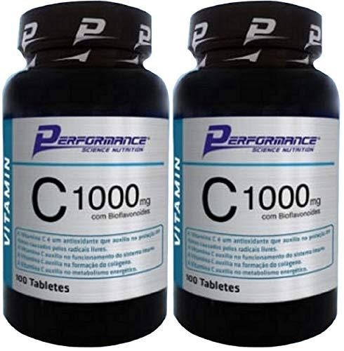 Vitamina C 1000 mg com Rutina 0,6mg Performance Nutrition 100 Tabletes Kit 2 Und