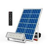 200W Luz de Inundación Solares, 32 LEDs 1700 Lumen Solare Luce al Aire Libre de Blanco Frío IP65 Impermeable Luces de Seguridad con Control Remoto