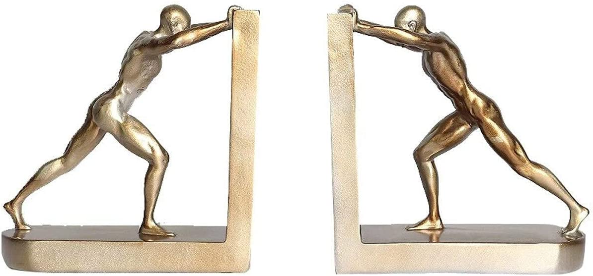 NICEAPR In a popularity Decorations 1 Pair of Creative Sports Retro Luxury goods bookends Pe