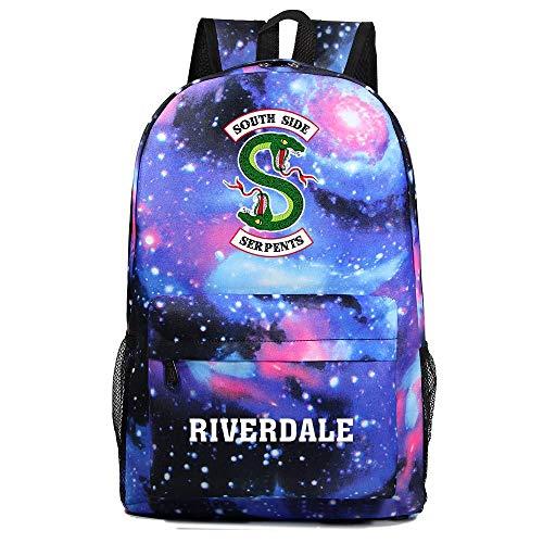 Riverdale Rucksack Jugendliche Lustige Rucksäcke American TV Riverdale Southside Serpents Print Laptop Rucksack Multifunktionaler Tagesrucksack