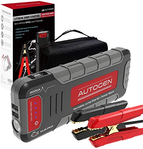 Why Choose AUTOGEN Car Jump Starter 2000A Peak for Up to 8.0L Gas/7.0L Diesel Engines, 12V Portable ...