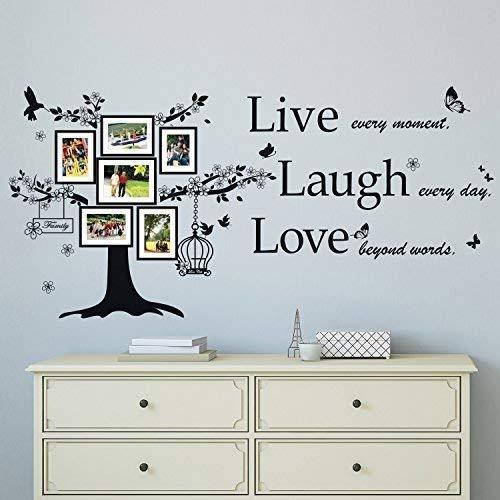 Wallflexi Pegatinas de Pared, diseño de Corazones con Texto en inglés Spring Love Murals, decoración para el hogar, decoración Multicolor