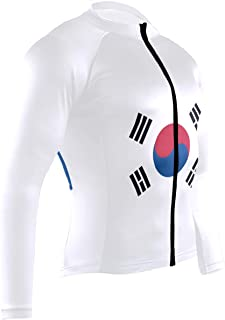 Mens Cycling Jersey Shirt South African Flag Long Sleeve Bike Jersey Riding Tops