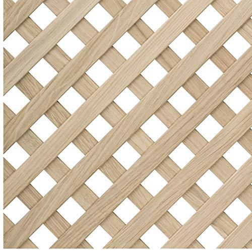 Diagonales Ziergitter 1150 x 550 x 4 mm massive Eiche für Innentürfüllungen Raumteiler Deckenelemente von SO-TECH®