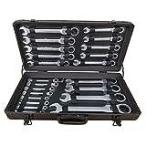 Ratschenschlüssel Set Ring Maul Schlüssel Satz 6-32mm Werkzeug 22 tlg Flexibler Kopfschlüssel