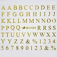 アルファベットやメッセージ や 筆記体 や 数字 の ネイルシール ネイルステッカー (ローマン体大文字GOLD)