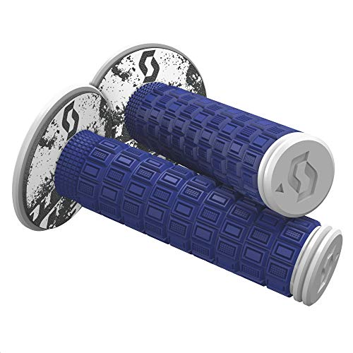 Scott Mellow Off-Road Motorcycle Hand Grips - Blue/White/One Size