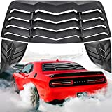 E-cowlboy Rear+Side Window Louver Windshield Sun Shade Cover in GT Lambo Style for Dodge Challenger 2008-2021 Custom Fit All Weather ABS Matte Black