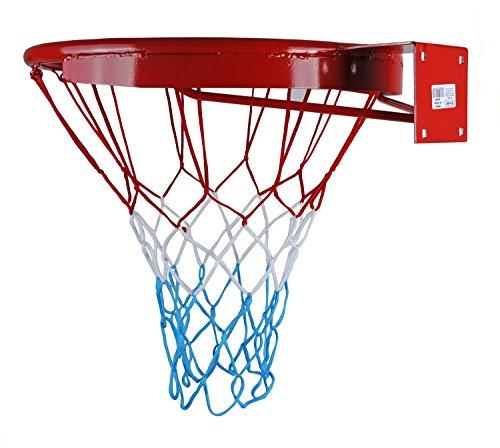 Kimet - Anello da basket con anello e rete, diametro 45 cm, qualità e sicurezza testata
