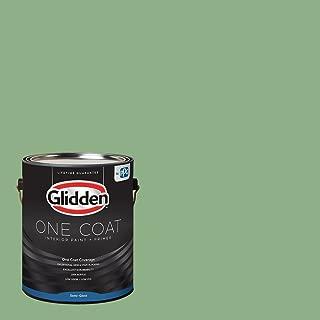 Glidden Interior Paint + Primer: Green Interior Paint /Pear Cactus, One Coat, Semi-Gloss, 1 Gallon