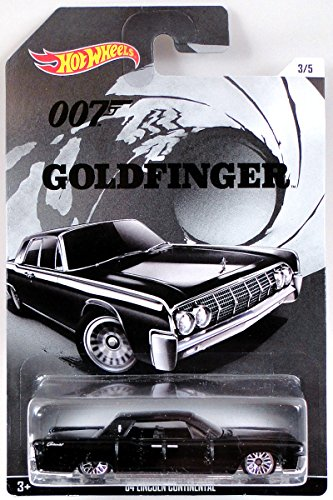 2015 Hot Wheels 3/5 James Bond 007 Goldfinger black \'64 Lincoln Continental by Hot Wheels