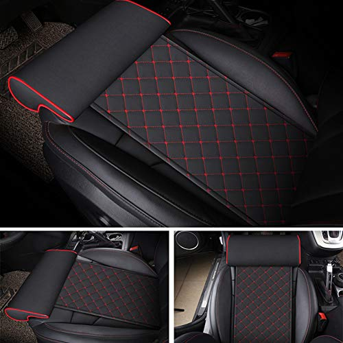 GPFDM Car Extended Seat Leather Cushion with Comfort Leg Support Pillow for Long-Distance Driving for Cars Buses Trains Office Home Leg Rest Cushion,A