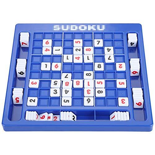 YCX Sudoku Anzahl Spiel Sudoku Brettspiel Sudoku Cube Anzahl Tisch Spiel Gehirn Digital Puzzle Spielzeug,für Kinder Erwachsene,Blau