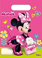 Pack of 6 Party Loot bags featuring Disney's Minnie Mouse Disney's Minnie plastic party loot bags Give to guests with birthday cake or treats inside Coordinate with other Disney's Minnie party supplies and party decorations