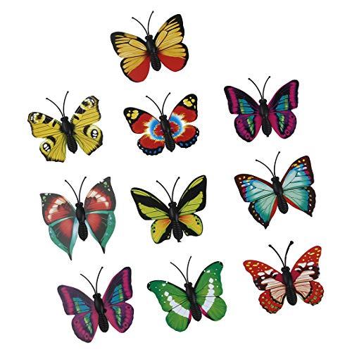 Hrsptudorc 10pzs Pegatina Decorativa DIY Decoracion de Pared de habitacion de casa refrigerador Mariposa magnetica 3D