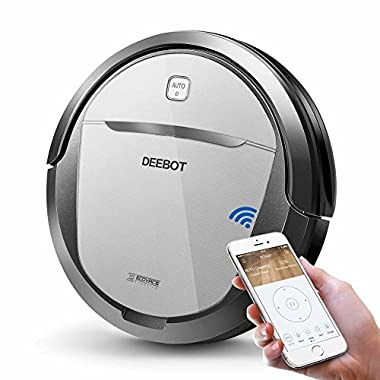 ECOVACS DEEBOT M80 Pro Robot Vacuum Cleaner with Mop and Water Tank Attachment, Brush Roll Attachment, for Pet Hair, Fur, Dirt, Stains, Thin Carpet, Hardwood and Tile Floor, Works with Alexa