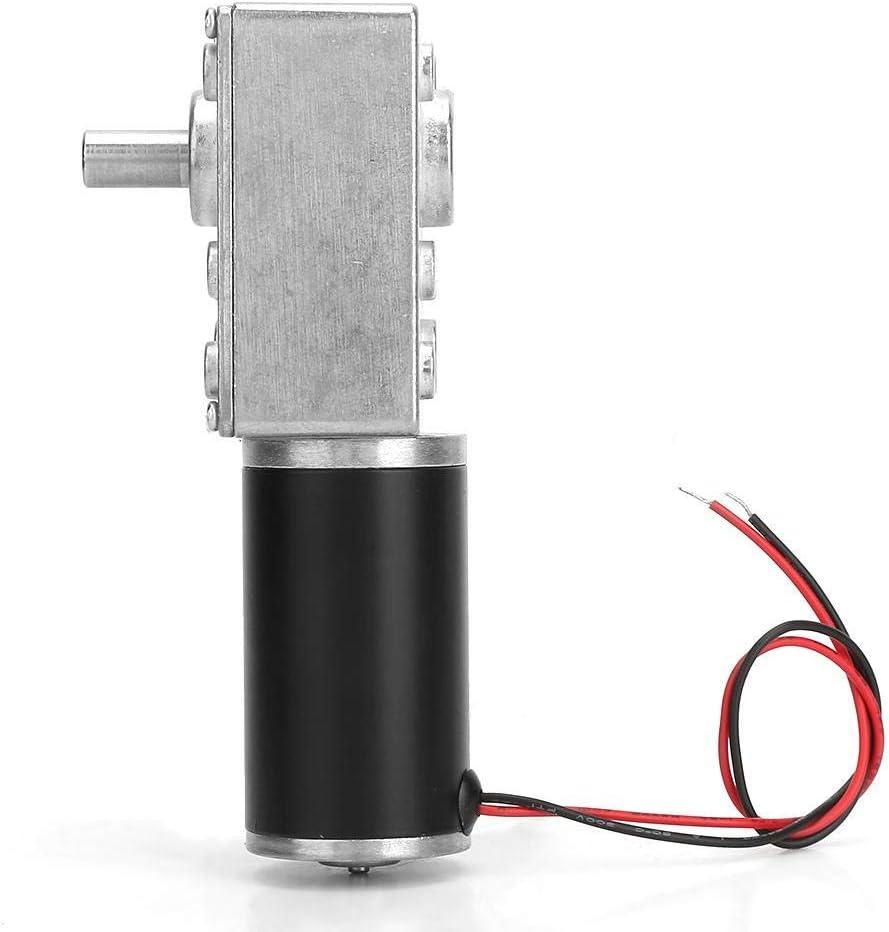 7RPM motoriduttore a vite senza fine reversibile da 24 V con albero da 8 mm Motoriduttore a vite senza fine motore di riduzione della velocit/à di coppia elevata con cavo,5 RPM-200 RPM
