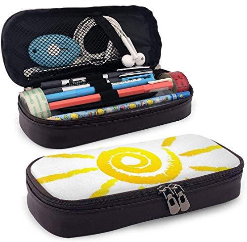 Sonnenleder 3D Nanotechnologie Gedruckt Federmäppchen Tasche Mit Reißverschluss Stift Box Schulmaterial für Studenten, Großraum-Schreibwaren Box für Mädchen Jungen und Erwachsene