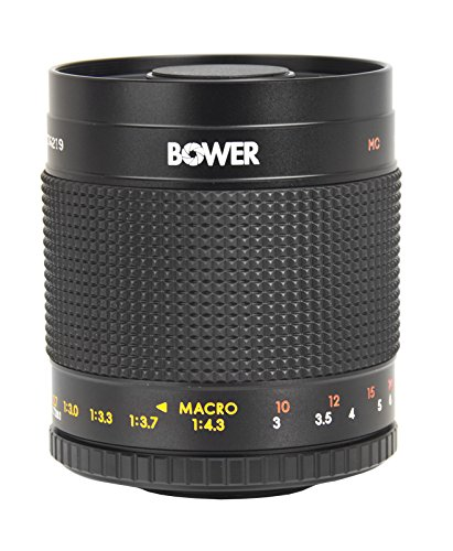 Bower 500mm f/8 Telephoto Mirror Lens For Canon Digital EOS Rebel SL1 (100D), T5i (700D), T4i (650D), T3 (1100D), T3i (600D), T1i (500D), T2i (550D), XSI (450D), XS (1000D), XTI (400D), XT (350D), 1D C, 70D, 60D, 60Da, 50D, 40D, 30D, 20D, 10D, 5D, Mark II, III, 1D X, 1D C, 1D Mark IV, 1D(s)Mark III, 1D(s)Mark II(N) , 5D Mark 2, 5D Mark 3, 7D, 6D Digital SLR Cameras