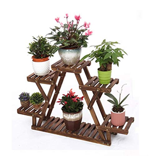 Blumenständer Regal Stand Blumenständer Regal Balkon Wohnzimmer Schmiedeeisen Indoor Pot Rack Kombination Blumenständer Regal, BOSS LV, Klein