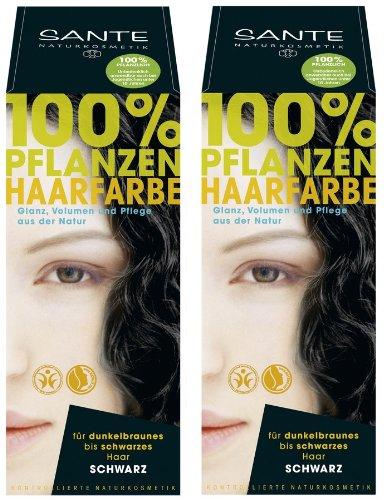 Sante Plante couleur des cheveux couleur des cheveux Lot de 2 Noir 2 x 100 g en kit pour un joli couleur Expérience