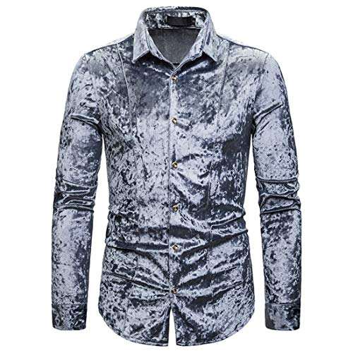Herren Shirt Herren Hemd Langarm Paisley Hemd Langarm Hemd für Männer Regular Fit Freizeithemd Casual Basic Shirt 2020 Neu Fashionable Hemd elegant Tops Herren M