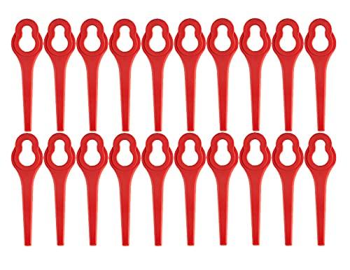 50 Stück Ersatzmesser für GFART 18 Akku Rasentrimmer Messer,Kunststoffmesser für Rasentrimmer GFART ALDI
