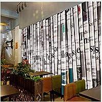 Bosakp カスタム壁紙3D写真壁画レトロ新聞背景壁リビングルーム壁紙 280X200Cm
