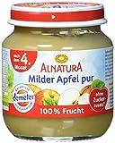 Alnatura Bio Milder Apfel pur, nach dem 4. Monat, (6 x 125 g) -