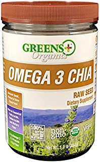 GREENS Plus Organic Omega 3 Chia Seed, 16 OZ