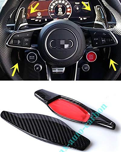 Max Auto Carbon Echt Carbon 100% Carbon real Carbon dsg Shift Paddle Schaltpaddles Schaltwippen passend für R8 RS7 RS6 RS5 RS4 RS3 TTRS RSQ8 RSQ3