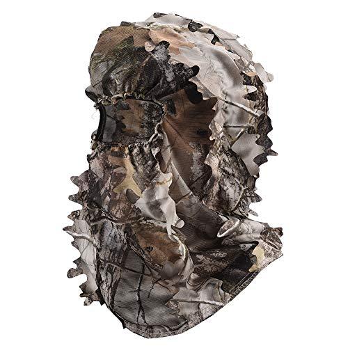 LOOGU Tarnmaske für Jagd im 3D Camouflage Design Vollmaske Kopfbedeckung Leicht und Atmungsaktiv Tarnung Gesichtsmaske – Elastische Universalgröße für Frauen und Männer
