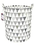 TIBAOLOVER 19.7' Large Sized Waterproof Foldable Canvas Laundry Hamper Bucket with Handles for Storage...