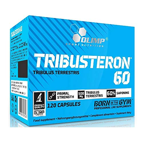 TRIBUSTERON60 - Tribulus Terrestris - Testosterone Booster for Men - Anabolic Pills for Muscle Mass Growth - Bodybuilding (120 Capsules)